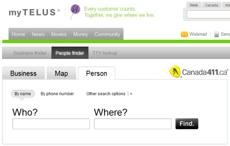 Telus People Finder