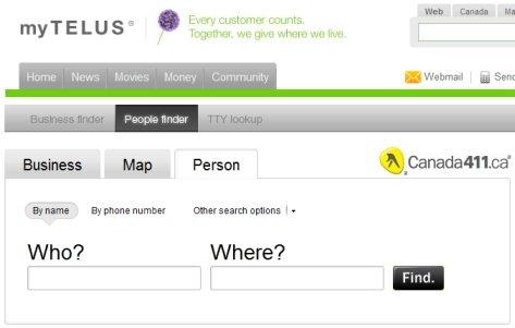 Telus People Finder